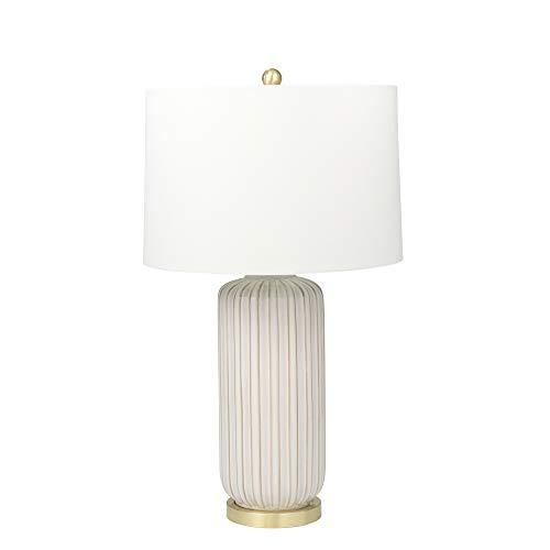 """Sagebrook Home 50204-01 Ceramic 29"""" Fluted Column Table Lamp, Cream"""