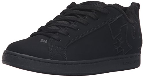 Pictures of DC Kids Youth Court Graffik Skate Shoes Black/Black/Black 1