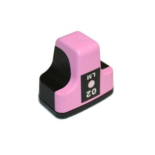 HI-VISION HI-YIELDS Compatible Ink Cartridge Replacement for HP 02 (Light Magenta)