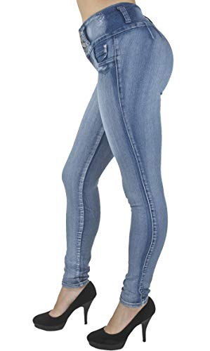 Plus/Junior Size Colombian Design High Waist Butt Lift Levanta Cola Skinny Jeans