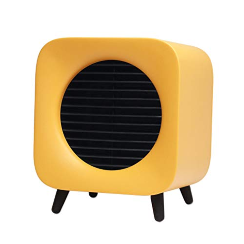 700W Portable Fan Heater Adjustable Thermostat Settings Security Home Office Kitchen Bedroom Dorm ()