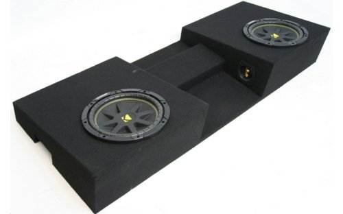"Compatible with Toyota Tacoma 05-12 Double Cab Truck Dual 10"" Kicker C10 Subwoofer Sub Box Enclosure 600 Watts Peak"
