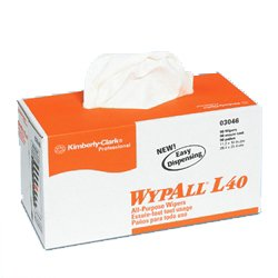 Wypall L40 White Wipes, 16.4