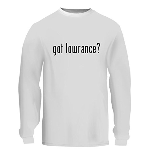 got lowrance? - A Nice Men's Long Sleeve T-Shirt Shirt, White, Large (19 Transducer Ice)