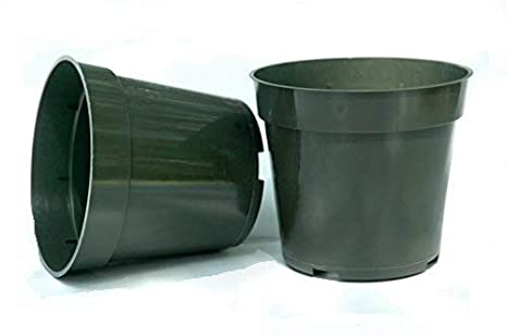183 & 50 NEW 6 Inch Standard Plastic Nursery Pots ~ Pots ARE 6 Inch Round At the Top and 4.1 Inch Deep.