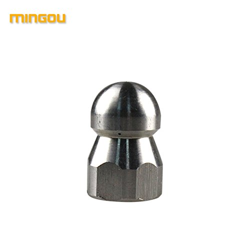 Mingou High Pressure Washer Accessory BSP 3/8' Female Nozzle Hose Sewer Nozzle Deal With Jamming Pipeline(MG-022)