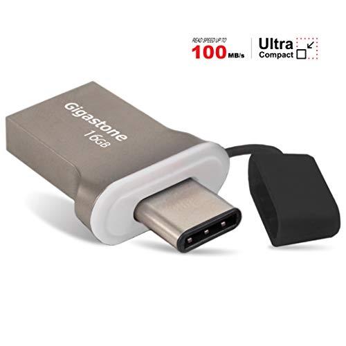 Gigastone 16GB USB Flash Drive USB 3.0 Type C OTG Memory Stick for Smartphone Apple MacBook Tablet Ultrabook Notebook Laptop PC Dell HP Lenovo Asus Acer Samsung Google LG AT&T