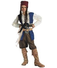 Disguise Disney Pirates of The Caribbean Captain Jack Sparrow Classic Boys Costume, Large/10-12 (Captain Jack Sparrow Child Deluxe Costume)