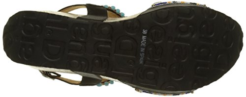 Desigual Ladies Bio7 Perline Sandali Nero (nero 2000)