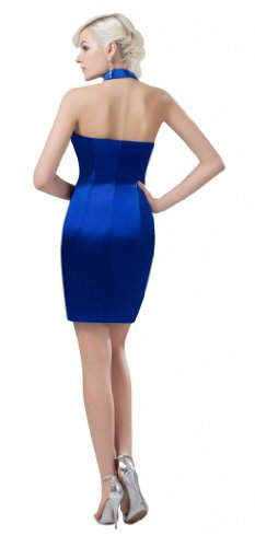 Orifashion para vestido de noche mujer corto König Azul azul cobalto