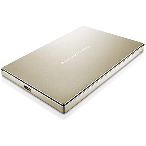 LaCie Porsche Design 2TB USB-C Mobile Hard Drive, Gold + 2mo Adobe CC Photography (STFD2000403) (Best Mobile Hard Drive)