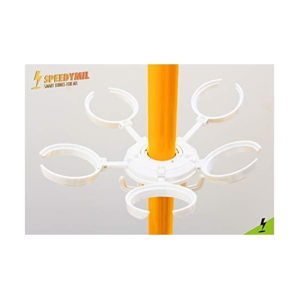 Speedymil Porta Bicchieri e Porta Borse per ombrelloni (Bianco) 3 spesavip