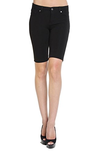 Women's Basic Stretch Skinny Bermuda Long Shorts