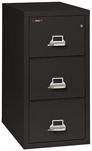 Fireking 3-1831-CBL Fireproof Vertical File Cabinet, 40.25'' H x 17.75'' W x 31.56'' D, Black by FireKing