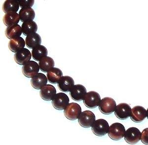 (GR622 Red Tiger's Eye Gemstone 4mm Round Beads 16