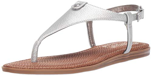 Circus by Sam Edelman Women's Carolina Flat Sandal Soft Silver Tumbled Bolt 6 M US