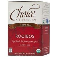 Choice Organic Teas Rooibos Red Bush Tea, 16 BAGS (Pack of 2)