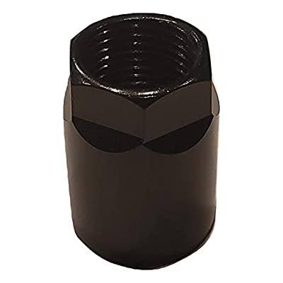 Muzzys Set of 4 Nuts- Universal Black TPMS Sensor Air Valve Stem Mounting Nut Tire Pressure Monitoring System for Black Wheels and Rims: Automotive