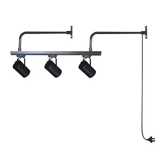 STGLIGHTING H-Type System 3.2ft Black Track Lighting Rail Bend Bracket with 15ft UL Plug Lamps Not Included by STGLIGHTING (Image #3)