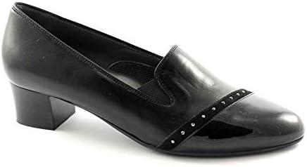 Melluso X5304 Schwarze Schuhe Frau aufrecht Komfort elastische