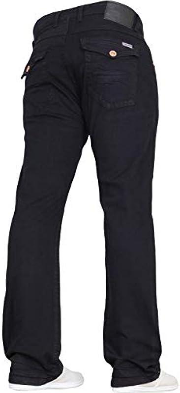 Denim męskie designerskie spodnie bootcut Fit Stretch jeansy we wszystkich taliach i rozmiarach nogawek.: Odzież