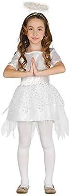 Guirca Rudy Disfraz ángel niña, Color Blanco, 7/9 años, 41584 ...
