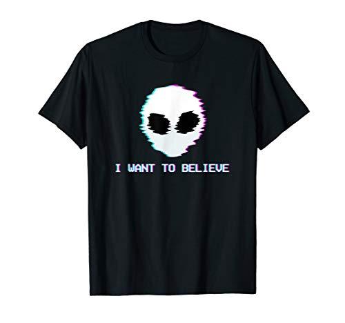 Pastel Goth Shirt Kawaii Alien Want to Believe Aesthetic
