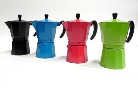 CAFETERA 6 TAZAS COLORES ITALIANA ALUMINIO en promoción: Amazon.es ...