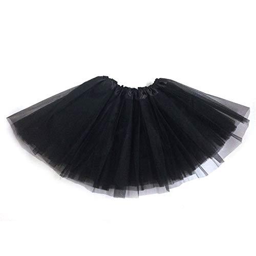 (Oasisocean Womens Tutu Skirt, Women's Short Ballet Skirt Vintage Adult Bubble Skirt 3 Layered Party Dress-Up Skirt)
