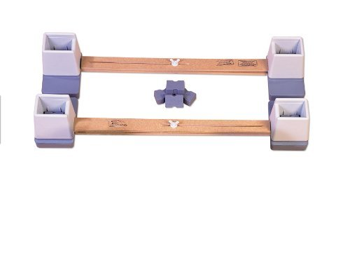 NRS LanghamHeight & Width Adjustable Linked Bed Raisers - Pair by NRS Healthcare