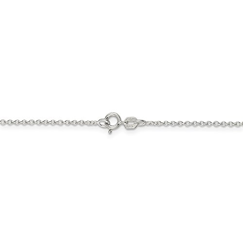 Half Round Rolo - Jewelry Stores Network Sterling Silver 0.5 mm Fancy Rolo Chain Necklace - 24 Inch