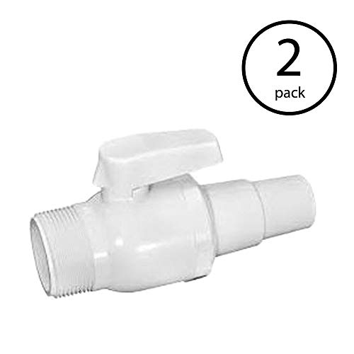 Hayward Econoline Swimming Pool 50 PSI 2 Way Ball Valve Replacement (2 Pack)