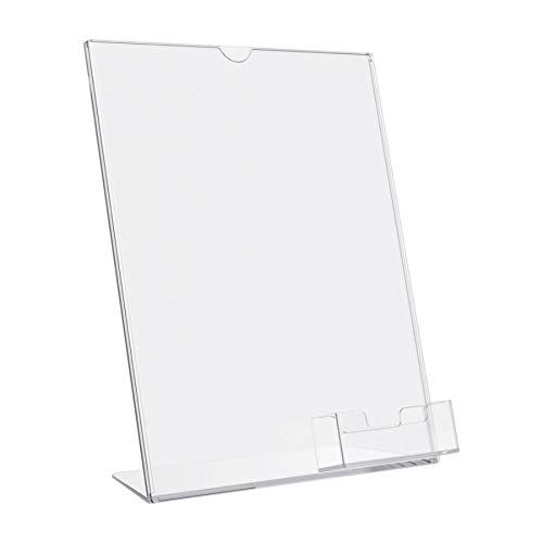 Deflecto Superior Image Slanted Sign with Business Card Holder, 11