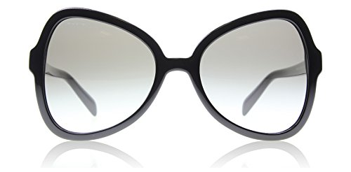Prada PR05SS 1AB0A7 Shiny Black PR05SS Butterfly Sunglasses Lens Category 2 - Prada Butterfly Sunglasses