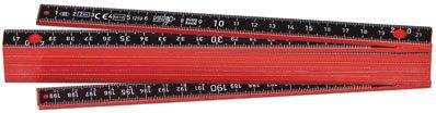 Wiha Longlife Plus Composite Gliedermaßstab, 2 m, metrisch, 10 Glieder (410 2005)