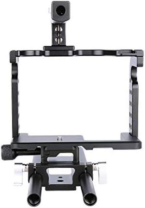Homyl パナソニックGH4 GH5用DSLRロッドリグカメラビデオホルダーマウントスタビライザーケージ+ハンドルグリップ