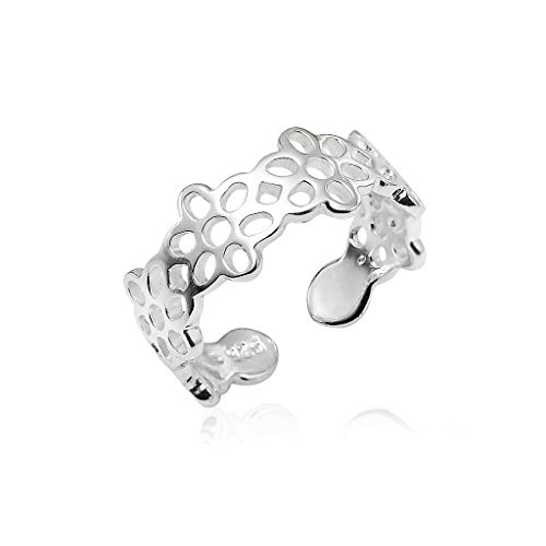 - Big Apple Hoops - Genuine 925 Sterling Silver ''Basic and Simple'' Open Knuckle/Toe Ring for Women   All Day Comfort with 14 Unique Styles