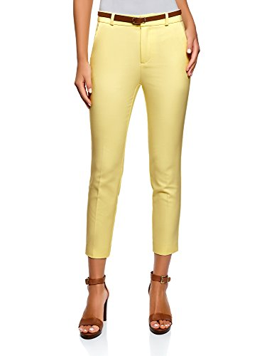Classici Pantaloni Donna 5200n Oodji Ultra Cintura Giallo Con q7tcwcSxE5