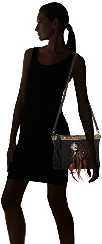 1525 Chicca Black Black Black Shoulder Women's Chicca Borse Borse Bag wRxqURP