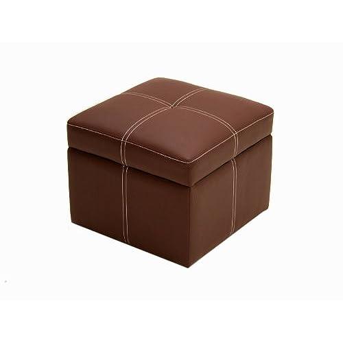 DHP Delaney Small Square Storage Orroman   Brown