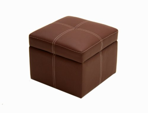 DHP Delaney Small Square Storage Orroman - Brown
