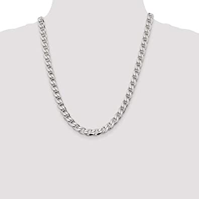 Brilliant Bijou Solid .925 Sterling Silver 8.25mm Flat Anchor Chain
