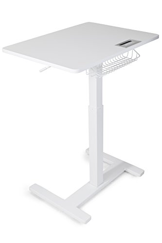FitDesk Sit-to-Stand Desk, White (Treadmill For Stand Up Desk)