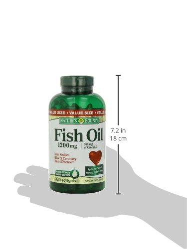 Nature 39 s bounty fish oil 1200 mg omega 3 and omega 6 buy for Nature s bounty fish oil review