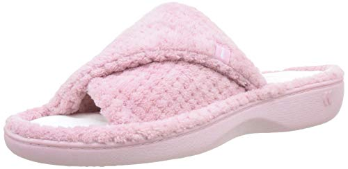Chaussons Open Mules Pearl Isotoner Femme White Popcorn Pink Slippers Toe Pkw dusky Rose Ladies gYZYxX