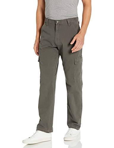 Wrangler Authentics Men's Classic Twill Relaxed Fit Cargo Pant, Olive Drab, 38W x 30L