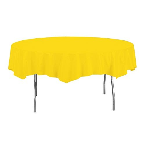 - Creative Converting Octy-Round Paper Table Cover, 82-Inch, School Bus Yellow