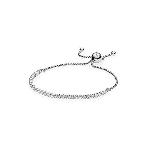 - Pandora 590524CZ-1 Sterling Silver Sparkling Strand Bracelet 9.1 Inch (Adjustable)