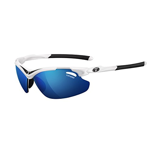 Tifosi Tyrant 2.0 1120104822 Dual Lens Sunglasses,White/Black,68 - Sunglasses Triathlete