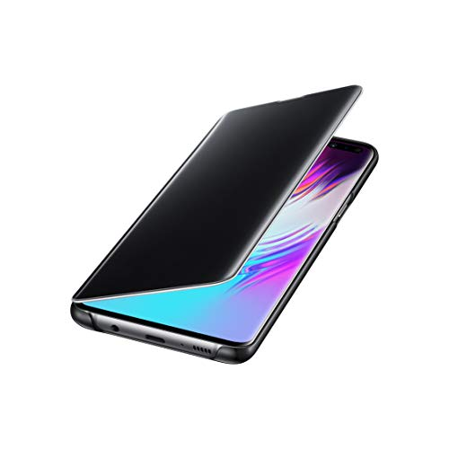 Samsung Original S10 5G Clear View Cover, Samsung Galaxy S10 5G Cover, Protective Case with Clear View Cover - Black